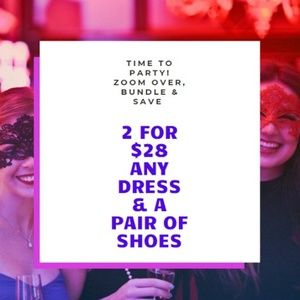 2 for $28 ANY Dress+1 Shoes +$4.99 Shipping!